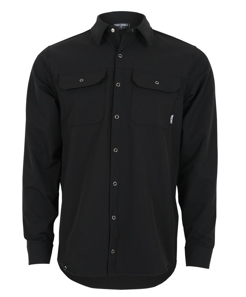 LOAMY Shirt #TMA-192MC BLACK
