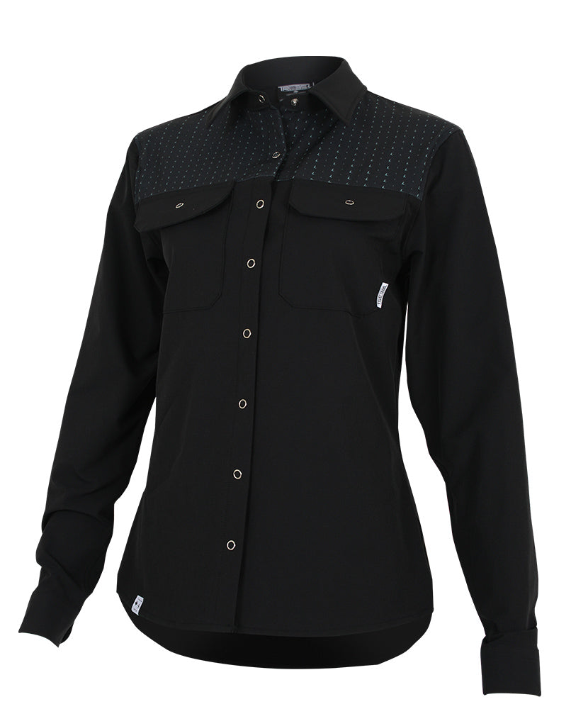 LOAMY Shirt #TMA-180WC BLACK