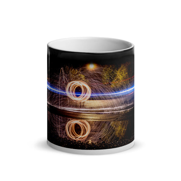 Reflected Steel Wool Glossy Magic Mug