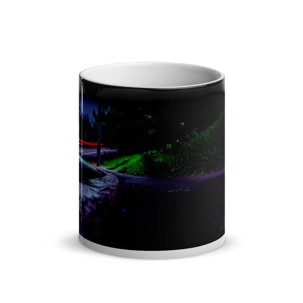 Up That Hill Glossy Magic Mug
