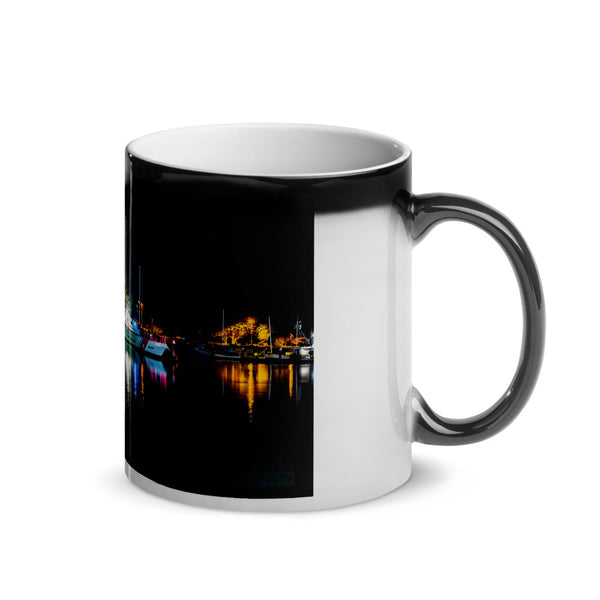 Boats On The Bay Glossy Magic Mug