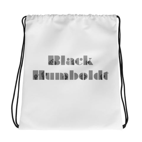 Black Humboldt Drawstring bag