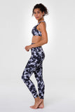 High Rise Legging - Black Tie Dye