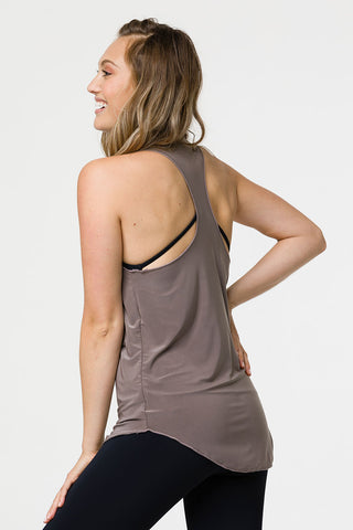 610c6f127a6cb ... Glossy Flow Tank Top - Champagne