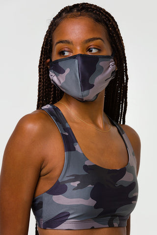 Mindful Masks Unisex - Black/Combat Camo