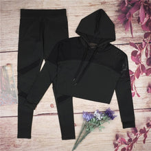 Load image into Gallery viewer, Hooded Yoga Top & Leggings Set