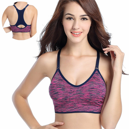 Adjustable Spaghetti Straps Athletic Bra