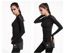 Load image into Gallery viewer, Long Sleeve Hollow Yoga Top