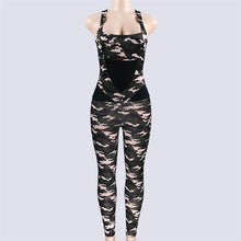Load image into Gallery viewer, Cross Backless Camouflage Yoga Set