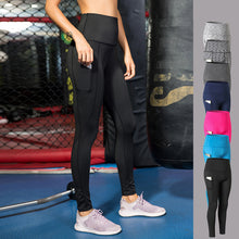 Load image into Gallery viewer, Elastic Fitness Leggings With Pocket