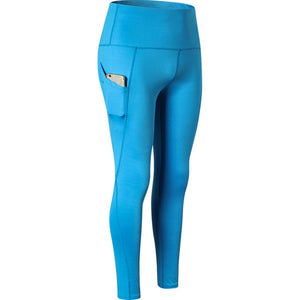 Elastic Fitness Leggings With Pocket