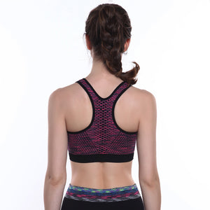 Wire-free Bra With Front Zipper