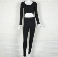 Load image into Gallery viewer, Hooded Long Sleeve Top & Leggings Set