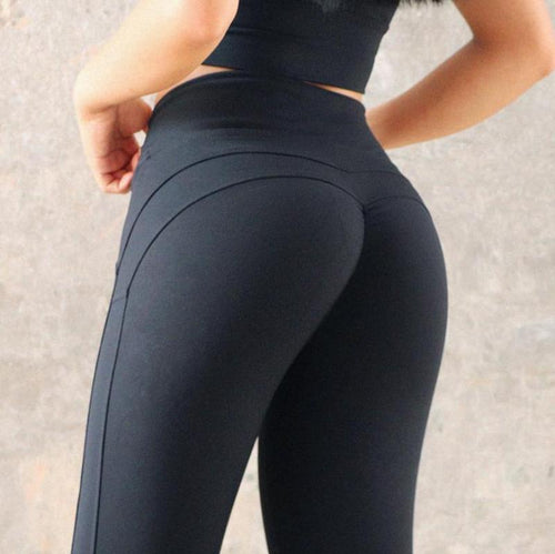 Solid Booty Up Sports Leggings