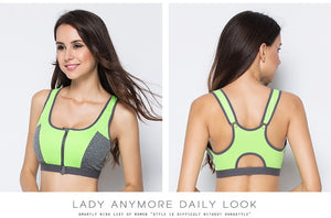 Double Layer Zipper Sports Bra