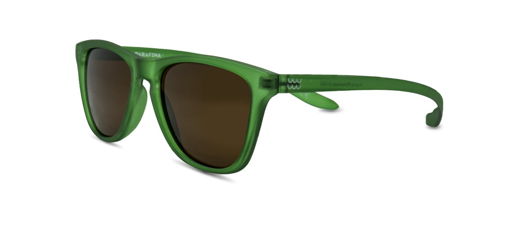 Ecofriendly sunglasses puerto green brown parafina