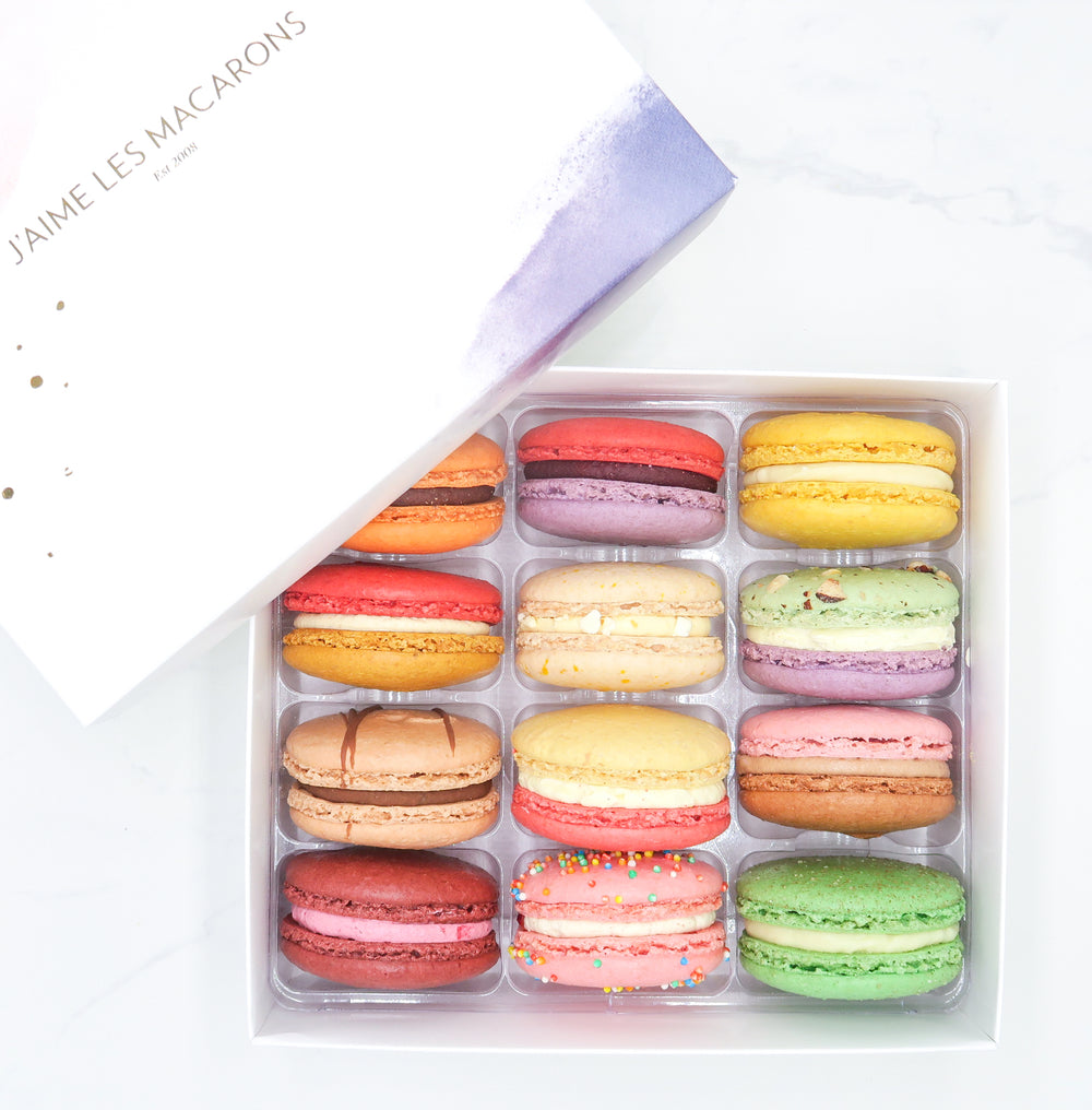 Create your own Box of 12 Macarons