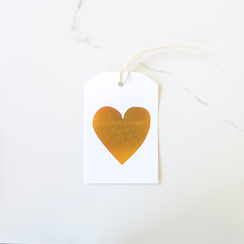 Gold Heart Gift-Tag