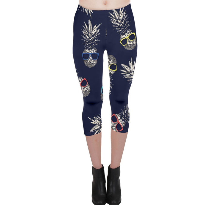 29 Capri Pineapple Shades Leggings - Planet-Winkie