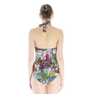 Hip Hop Halter Swimsuit - Planet-Winkie