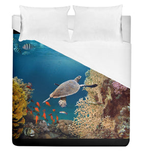000000 Sea Turtle Duvet Cover (Queen Size) - Planet-Winkie