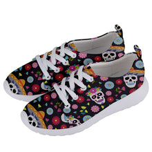 Load image into Gallery viewer, 138 Mexico dia de los Muertos Women's Lightweight Sports Shoes - Planet-Winkie