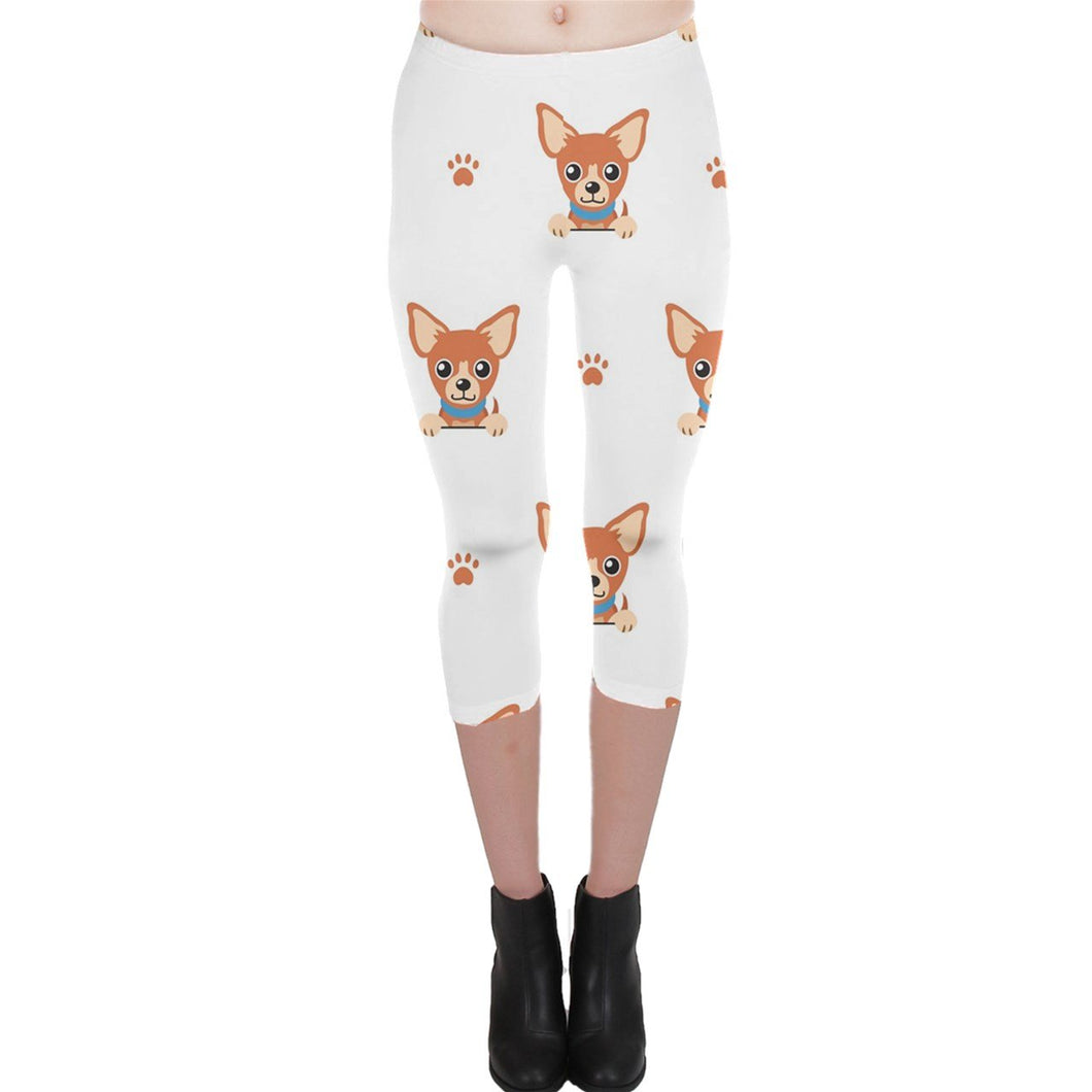 596 Killer Chihuahua Capri Leggings - Planet-Winkie
