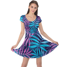 Load image into Gallery viewer, Luxury Fern Design Cap Sleeve Dress - Planet-Winkie