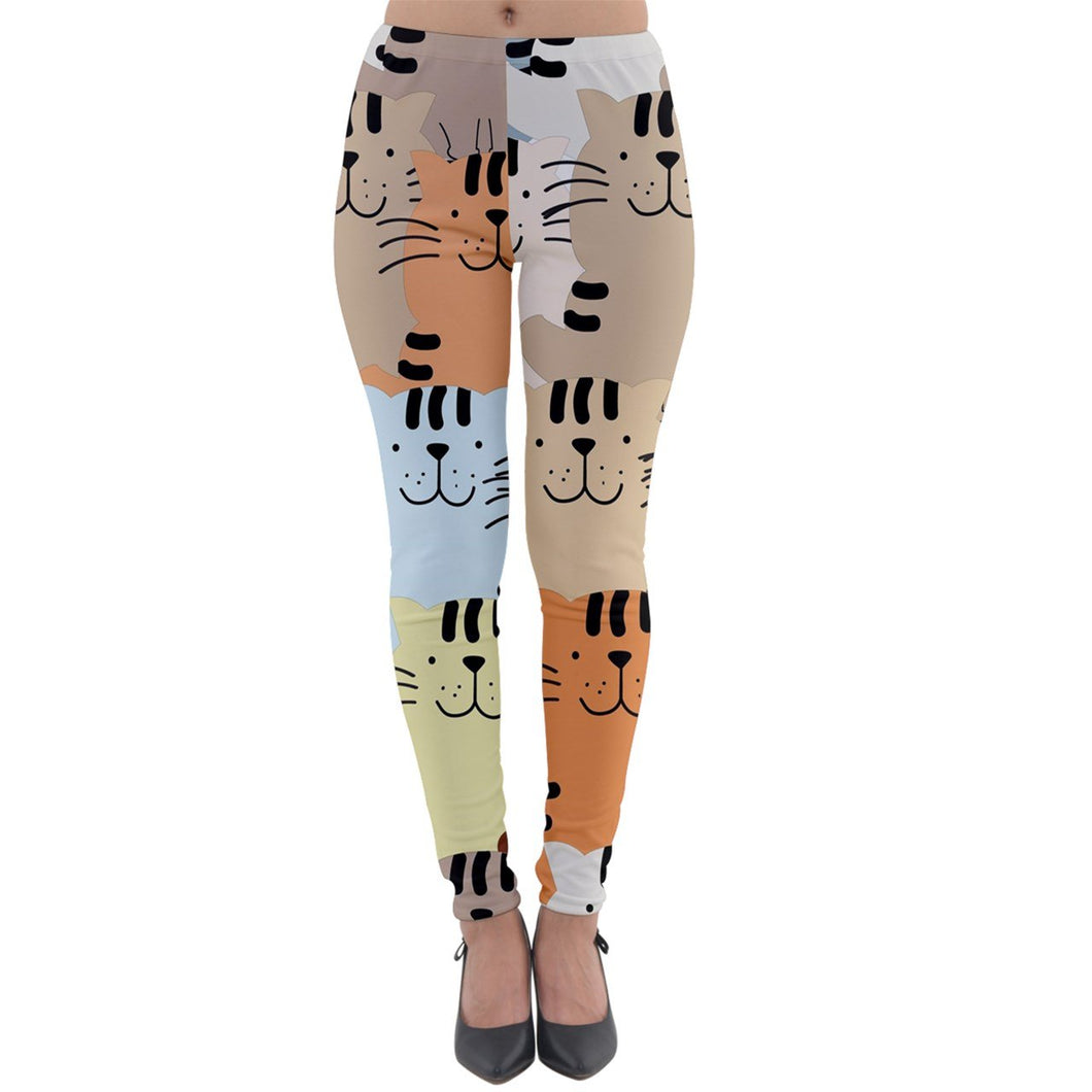 Cat Attack Lightweight Velour Leggings - Planet-Winkie
