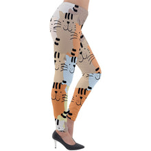 Load image into Gallery viewer, Cat Attack Lightweight Velour Leggings - Planet-Winkie
