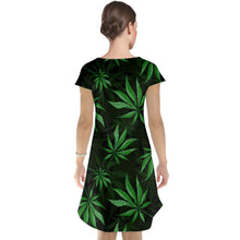 Load image into Gallery viewer, Marijuana Leaf Cap Sleeve Nightdress