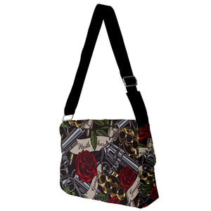 Exclusive Gangsta Full Print Messenger Bag (S)