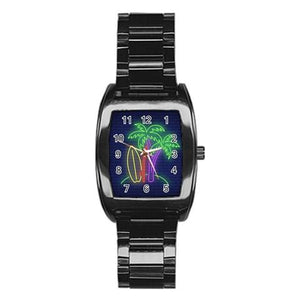 Neon Sunset Stainless Steel Barrel Watch - Planet-Winkie