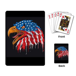 Patriot Eagle Playing Cards Single Design (Rectangle) - Planet-Winkie