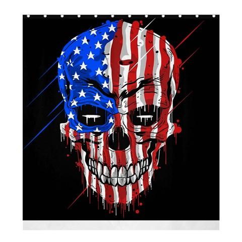 Patriot Skull Shower Curtain 66