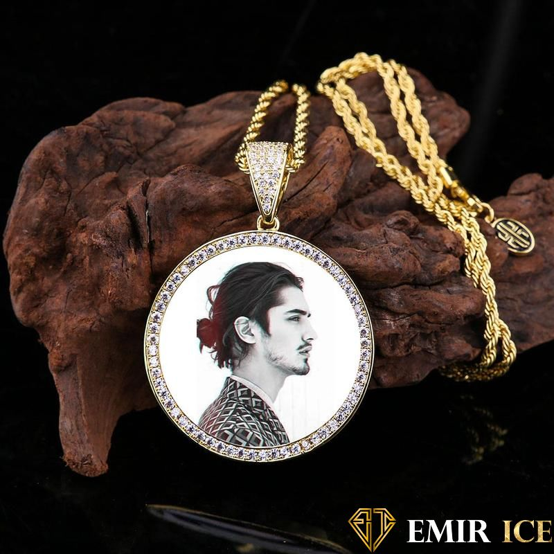 COLLIER PENDENTIF PORTE-PHOTO EN DIAMANT - Emirice.com