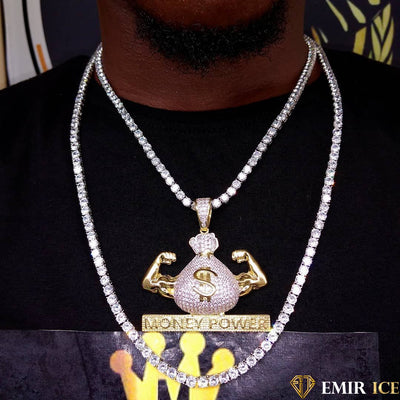 COLLIER PENDENTIF MONEY POWER - Emirice.com