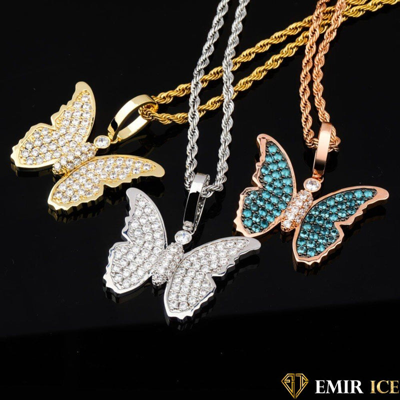 COLLIER PENDENTIF PAPILLON DIAMS