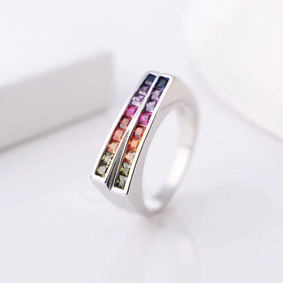"BAGUE LGBT ""DOUBLE ROW"" - Emirice.com"