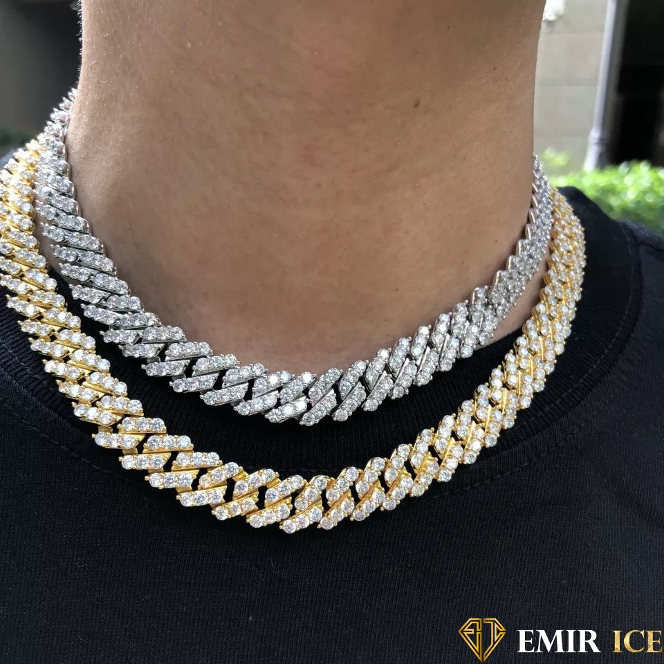 CHAINE EMIR LUXURY CUBAINE OR 10MM - emirice.com