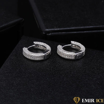 BOUCLE D'OREILLE EMIR EARRINGS OR BLANC V1 - Emirice.com