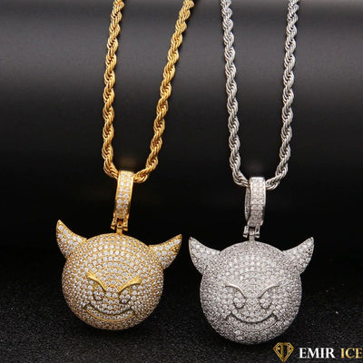 COLLIER PENDENTIF EMOJI DIABLE DEMON ICE - Emirice.com