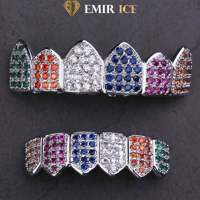 GRILLZ EMIR LUXURY RAINBOW OR BLANC - Emirice.com
