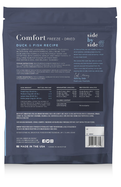 Comfort Freeze-Dried | Duck & Fish Pet Food with Raw Protein (back)