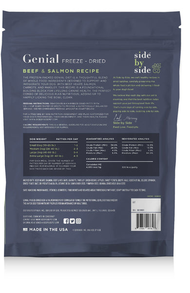 Genial Freeze-Dried | Beef & Salmon Raw Pet Food (back)