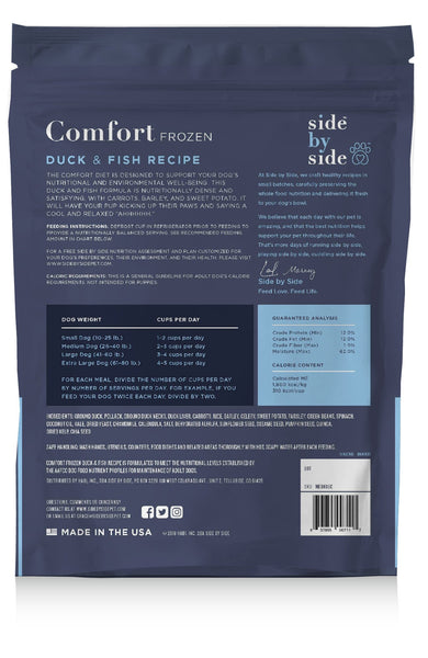 Comfort Frozen | All-Natural Duck & Fish Pet Food (back)