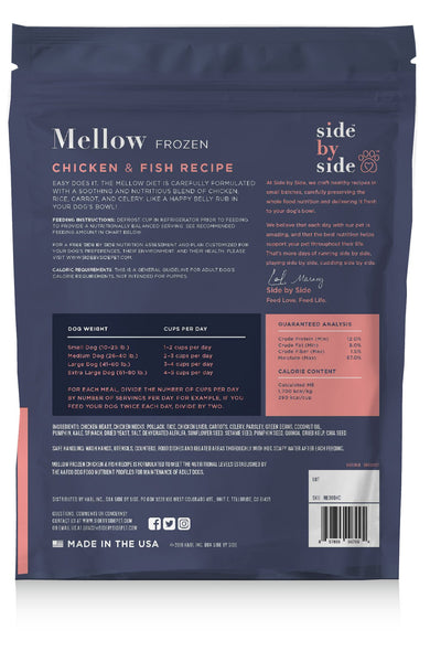 Mellow Frozen | Chicken & Fish Whole Ingredient Pet Food (back)