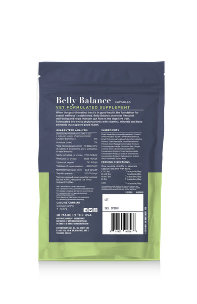 Belly Balance | Digestive Support Supplement for Pets (back)