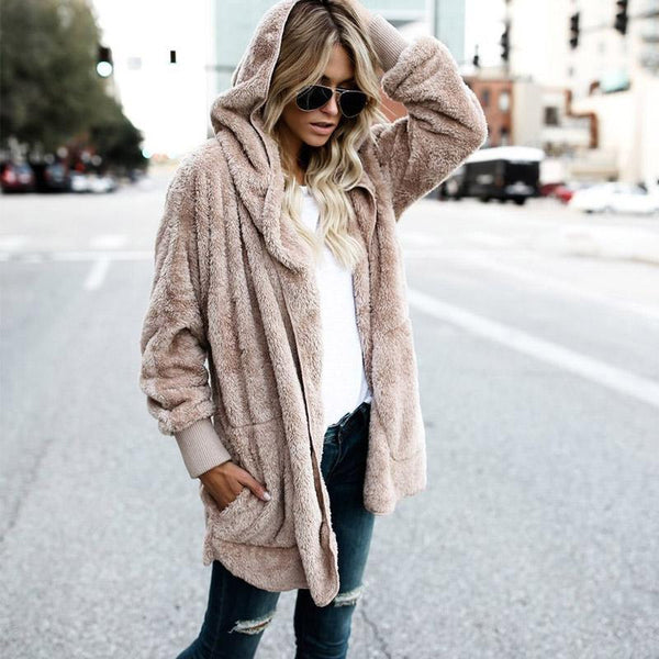 Fur Coat Street Style Soft Faux Fur Fuzzy Jacket