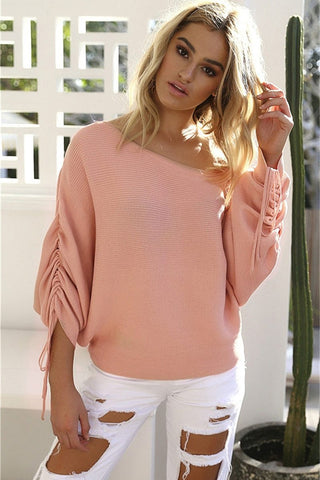 High Street Style Fashion Women Sweater Pink
